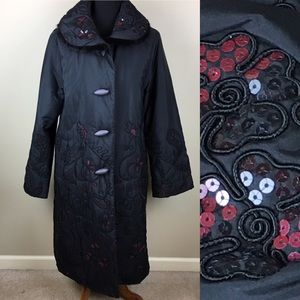 Gorgeous embroidered ICINOO dressy coat size XL